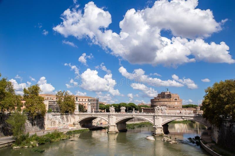 Castle San't Angelo. Sant't Angelo castle photographed across the bridge Vittorio royalty free stock images