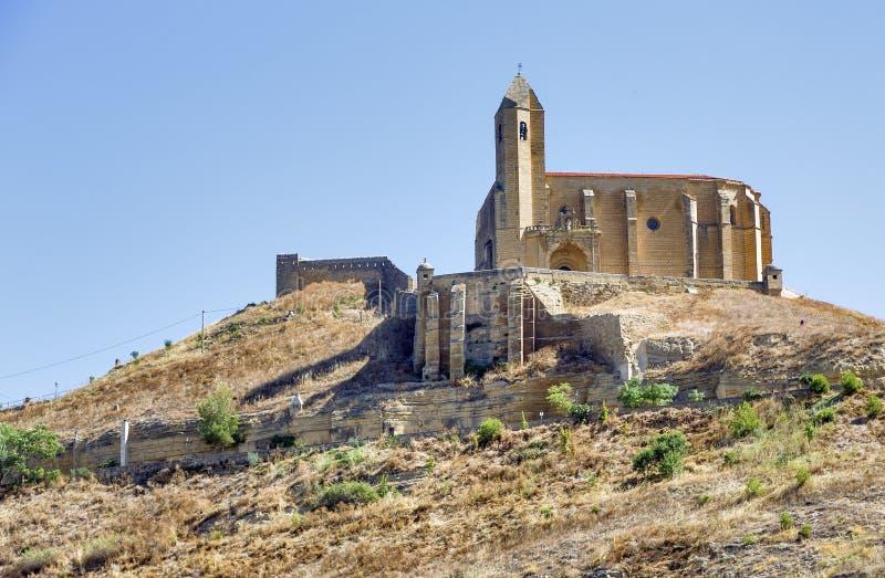 Castle of san vicente de la sonsierra in la rioja. Spain royalty free stock image