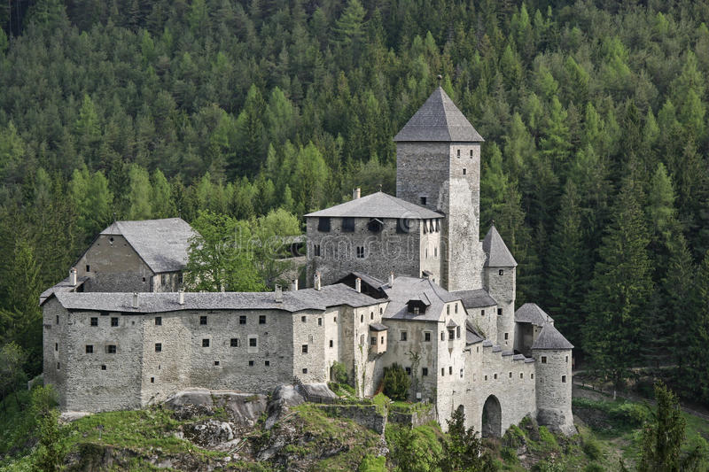 Castle Sand in Taufers stock photography