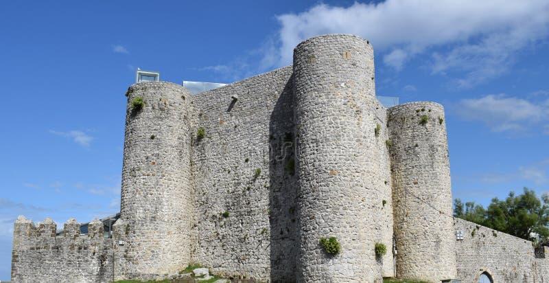 Castle of Santa Ana Castro Urdiales Cantebria. Spain stock photos