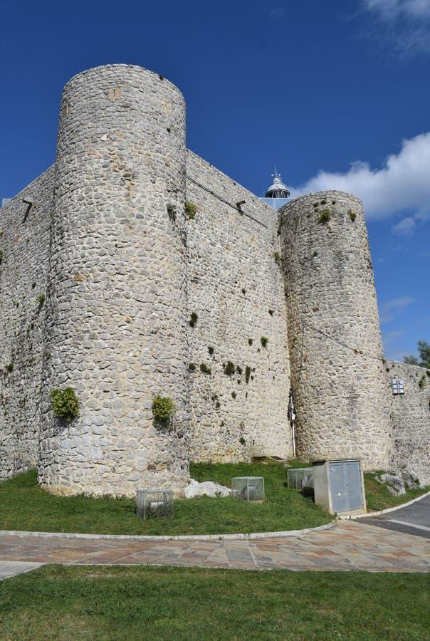 Castle of Santa Ana Castro Urdiales. Cantebria Spain stock image