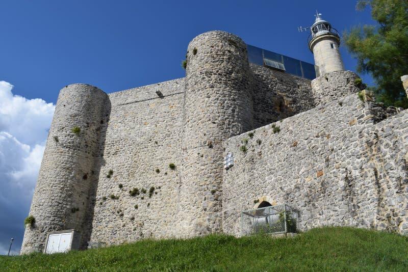 Castle of Santa Ana Castro Urdiales. Cantebria Spain stock images