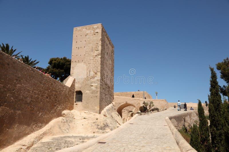 Castle Santa Barbara in Alicante. Spain. Photo taken at 1st of Mai 2012 stock photography