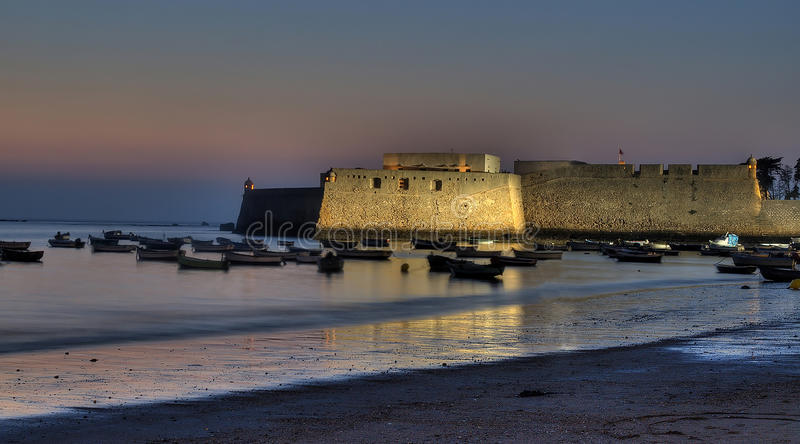 Download Castle Of Santa Catalina At Sunset Stock Image - Image: 21079609