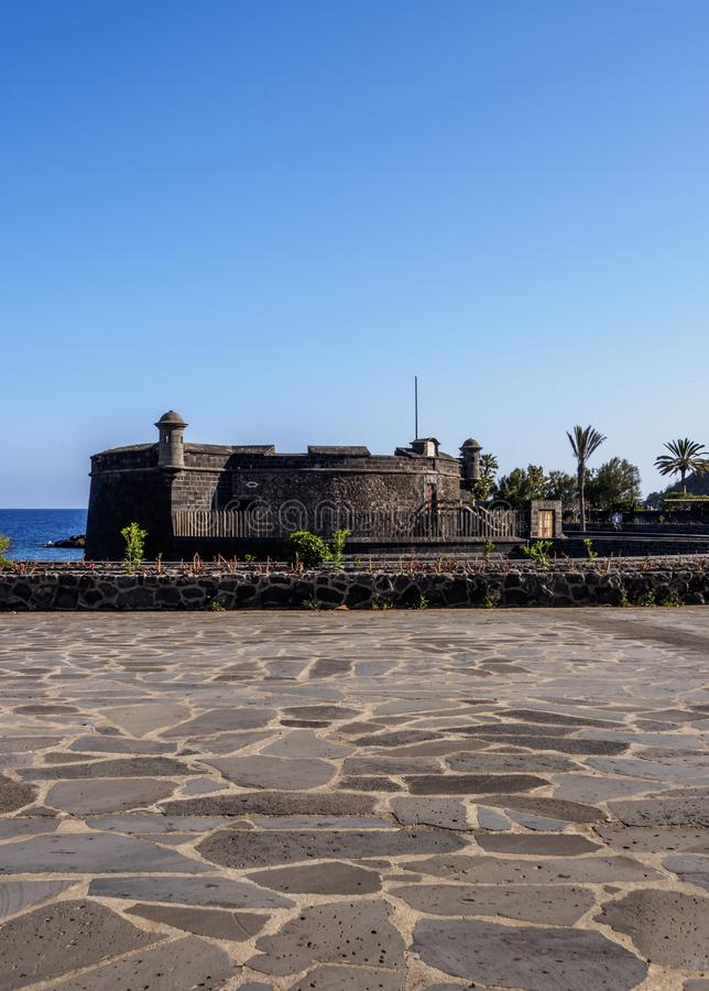 Castle in Santa Cruz de Tenerife. Castle of San Juan Bautista, Santa Cruz de Tenerife, Tenerife Island, Canary Islands, Spain royalty free stock photo