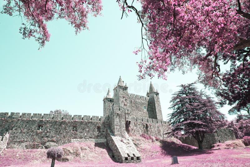 Castle of the Santa Maria da Feira stock photography