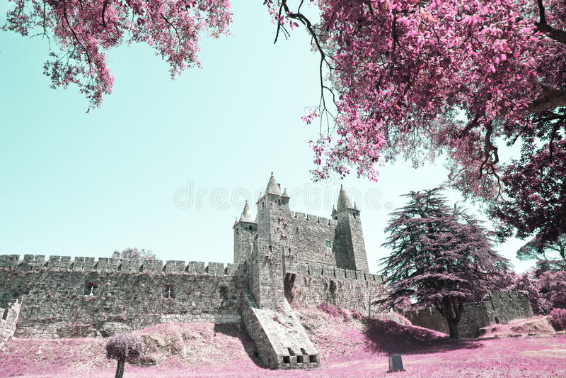 Castle of the Santa Maria da Feira. PORTUGAL stock photography