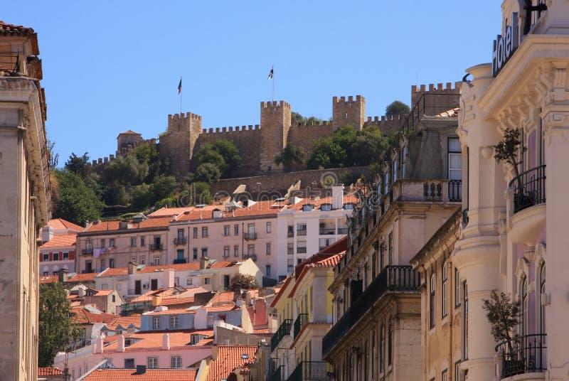 Download Castle of Sao Jorge stock image. Image of fort, landscapes - 26967761