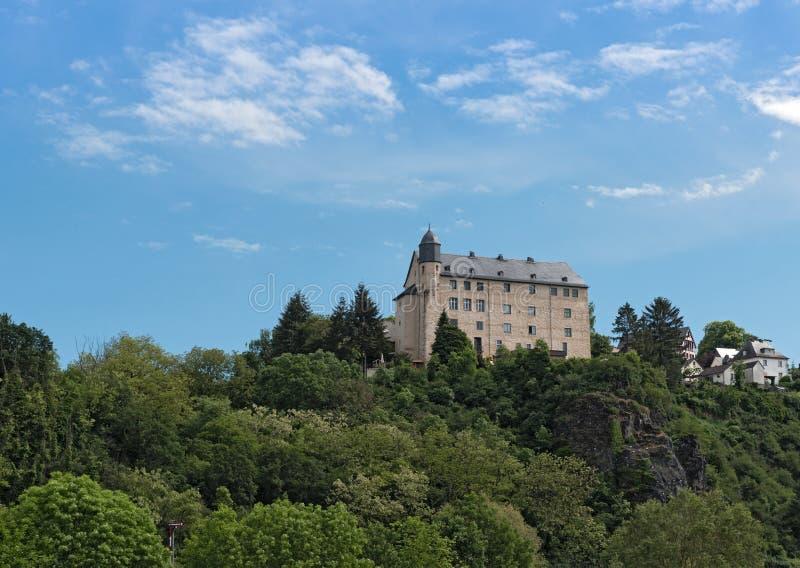 Castle schadeck στον ποταμό hesse Γερμανία runkel lahn στοκ φωτογραφίες με δικαίωμα ελεύθερης χρήσης