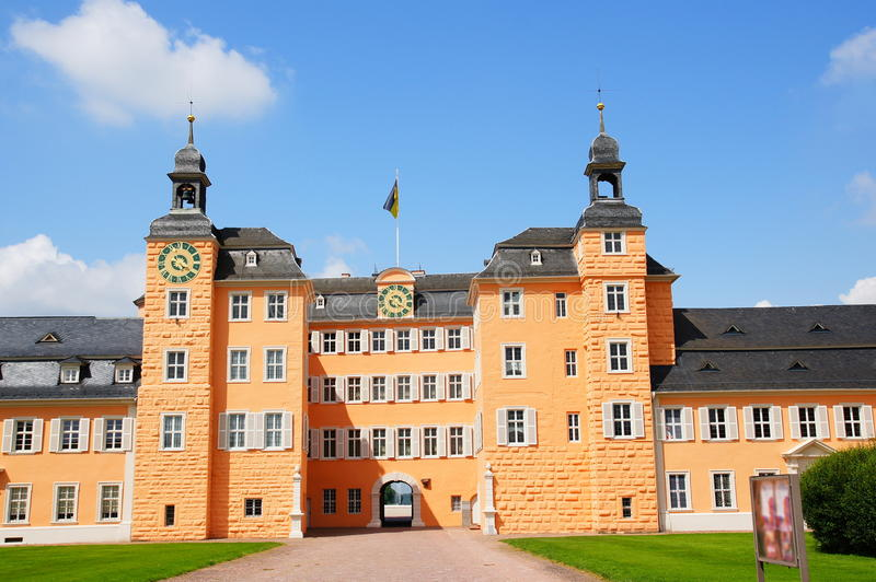 Castle Schwetzingen. Schwetzingen Castle was the summer residence for the Elector Palatine of the 18th Century royalty free stock photo
