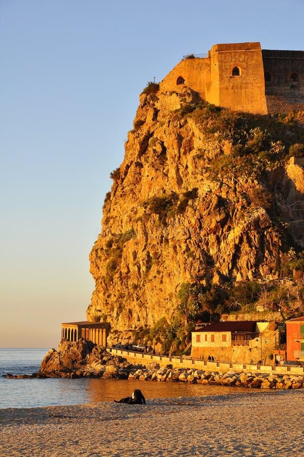 Castle of Scilla, Reggio Calabria. stock photography