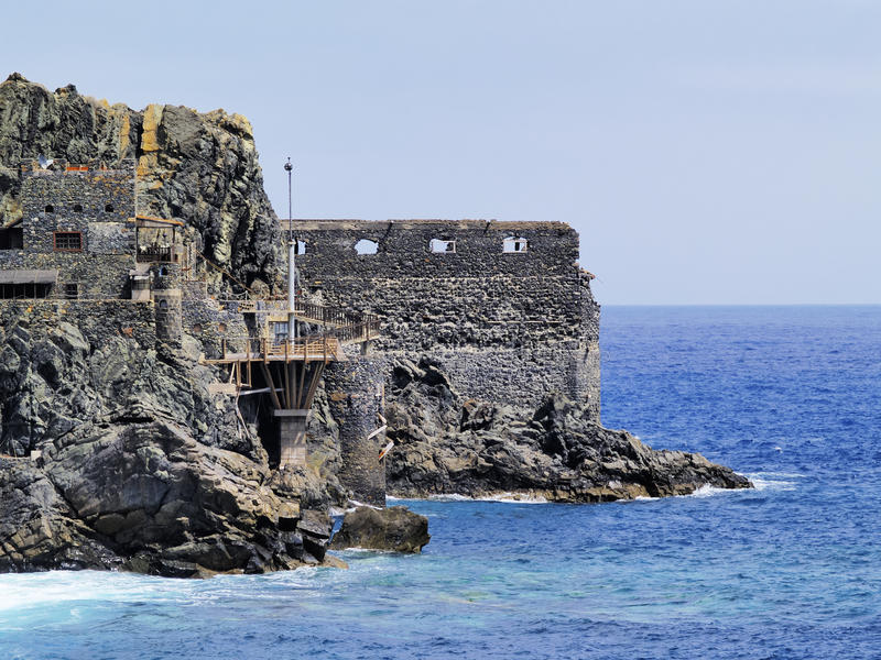 Castle of Sea. Castel del Mar, La Gomera, Canary Islands, Spain stock photo