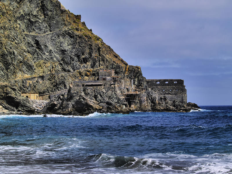 Castle of Sea on La Gomera royalty free stock image