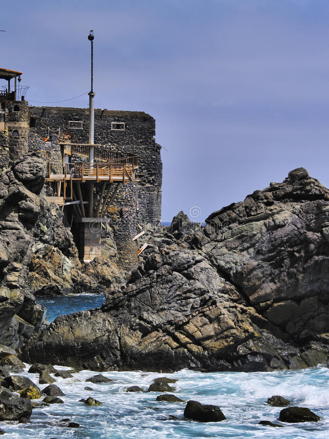 Castle of Sea on La Gomera royalty free stock photos