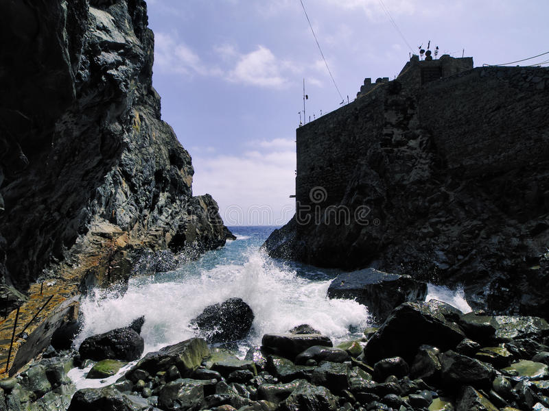 Castle of Sea on La Gomera stock photo