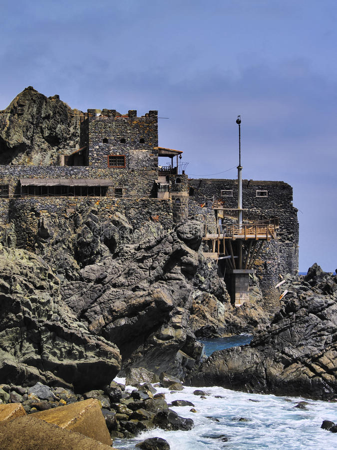 Castle of Sea on La Gomera stock image