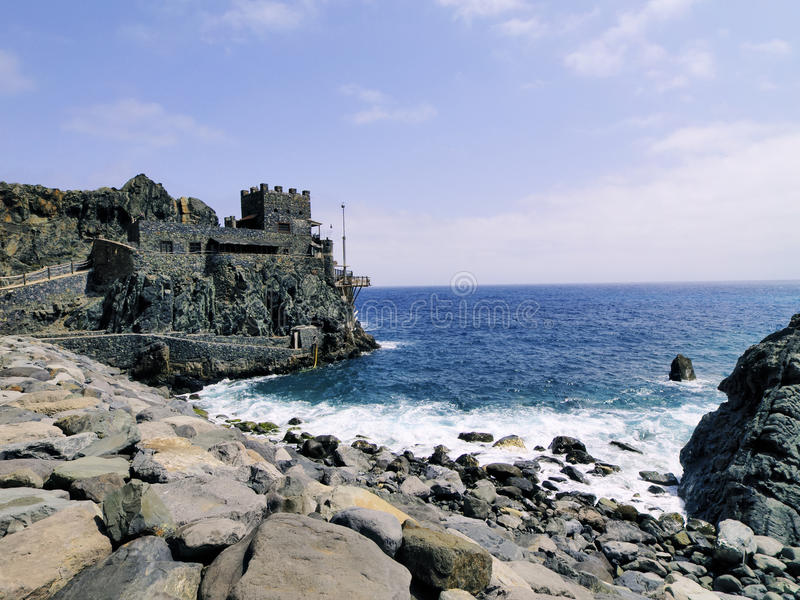 Castle of Sea on La Gomera stock images