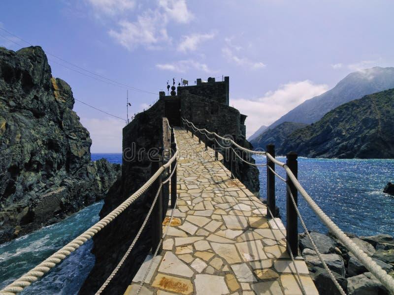 Castle of Sea on La Gomera. Castel del Mar(Sea Castel), La Gomera, Canary Islands, Spain royalty free stock image