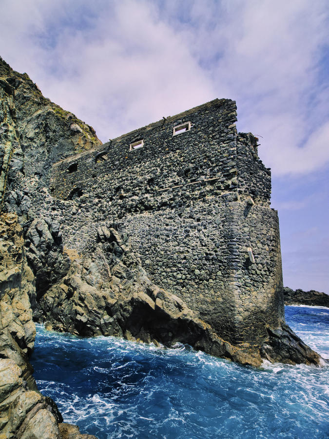 Castle of Sea on La Gomera royalty free stock images