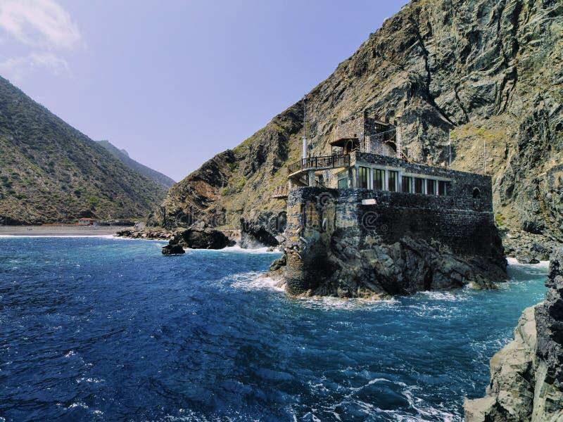 Castle of Sea on La Gomera. Castel del Mar(Sea Castel), La Gomera, Canary Islands, Spain royalty free stock photography