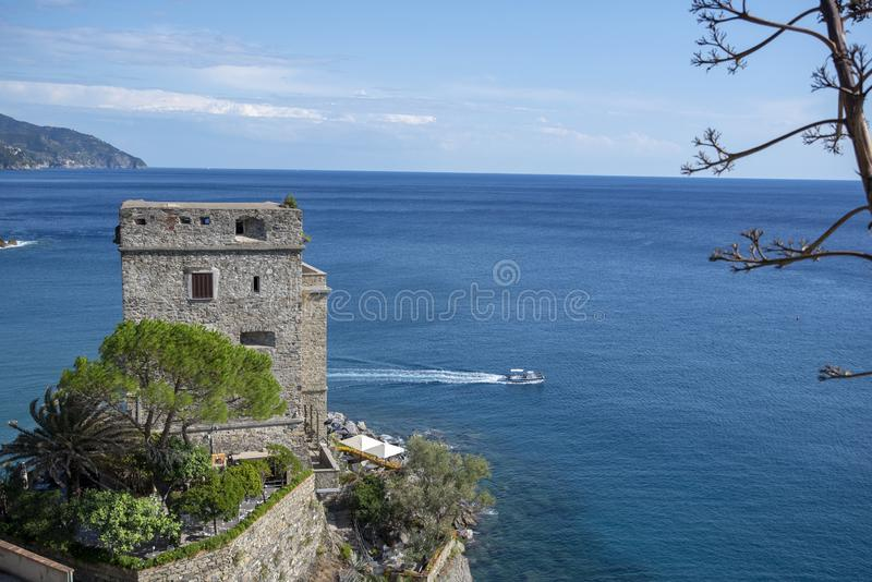 The castle of Monterosso, Cinque Terre, Italy, 6 September 2019 stock images