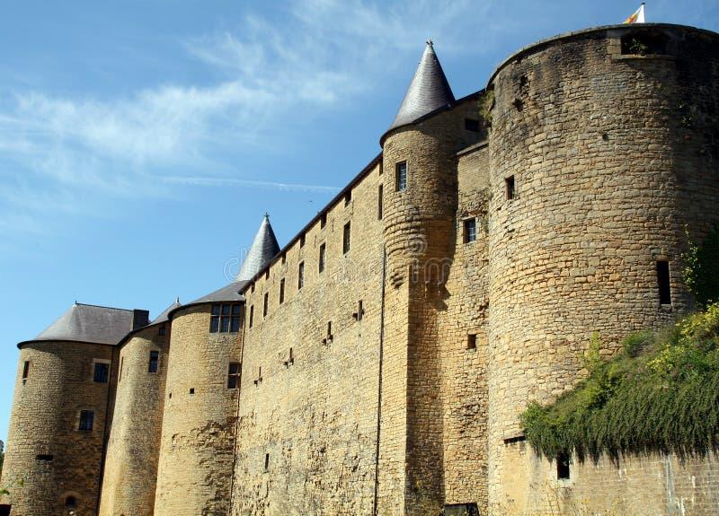 Castle of Sedan stock photography