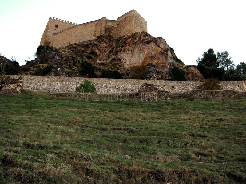 Castle Segura de Λα Sierra στοκ εικόνες