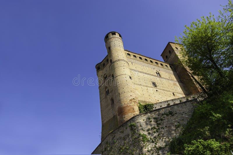 Castle Serralunga d'Alba, Piedmont, Italy. Castle Serralunga d'Alba, Langhe, Piedmont, Italy royalty free stock image