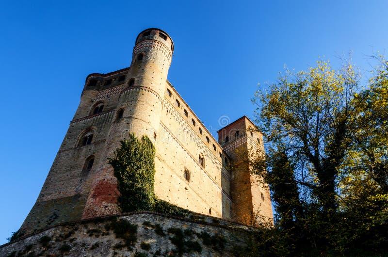 Castle of Serralunga d`Alba royalty free stock photos
