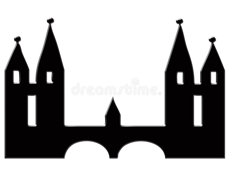 Castle Silhouette Royalty Free Stock Photo