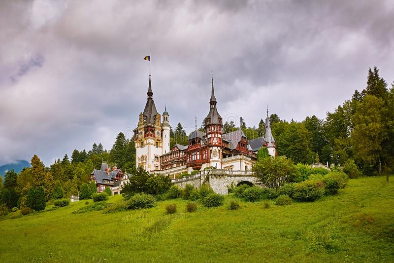 Castle in Sinaia royalty free stock image