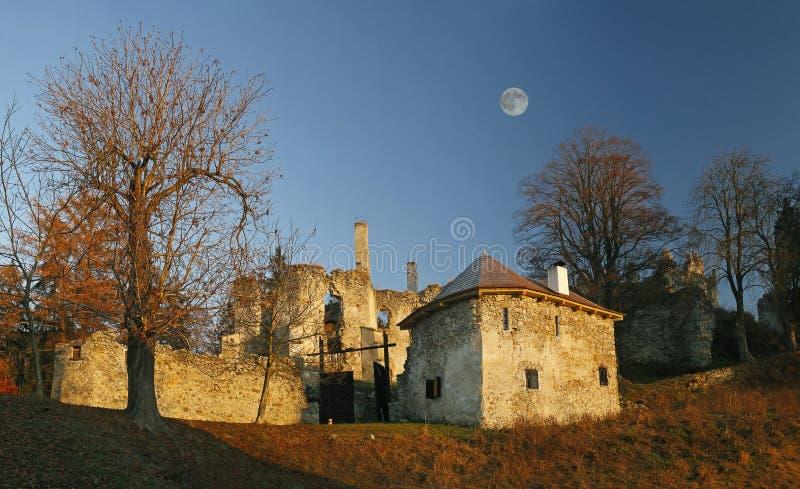 Castle Sklabina. Castle Slovakia in The Slovakia stock photo