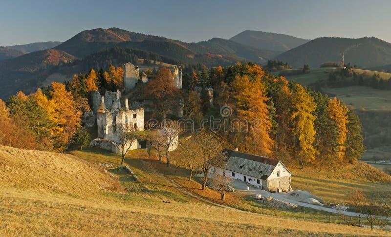 Castle Sklabina. Castle Slovakia in The Slovakia royalty free stock photography