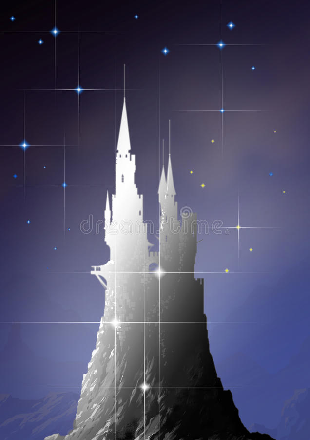 Castle in sky royalty free stock photography