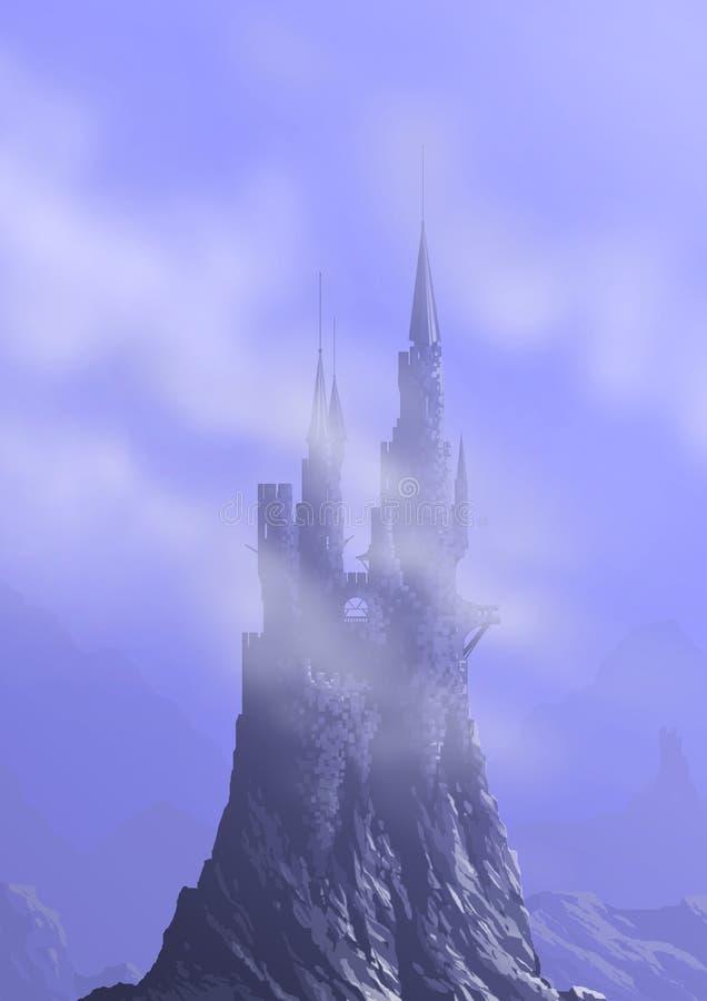 Download Castle in sky stock illustration. Image of cartoon, design - 14434373