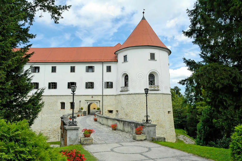 Castle in Slovenia. Beautiful medieval castle in Mokrice, Slovenia, Europe stock photo