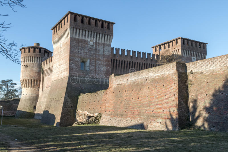 Castle of Soncino royalty free stock images