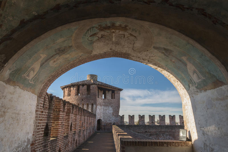 Castle of Soncino stock image