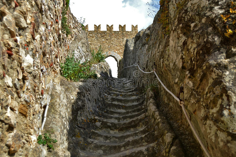 Castle of Sperlinga, Enna. Sicily stock photography