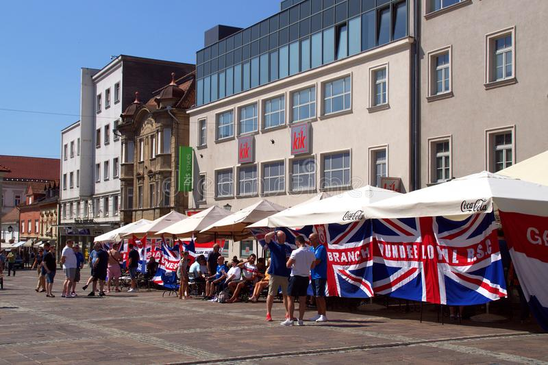 Castle Square In Maribor, Slovenia royalty free stock photo