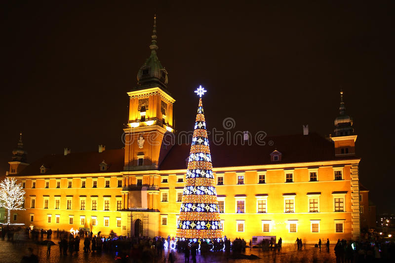 Download Castle Square, Warsaw stock image. Image of night, architecture - 16395555