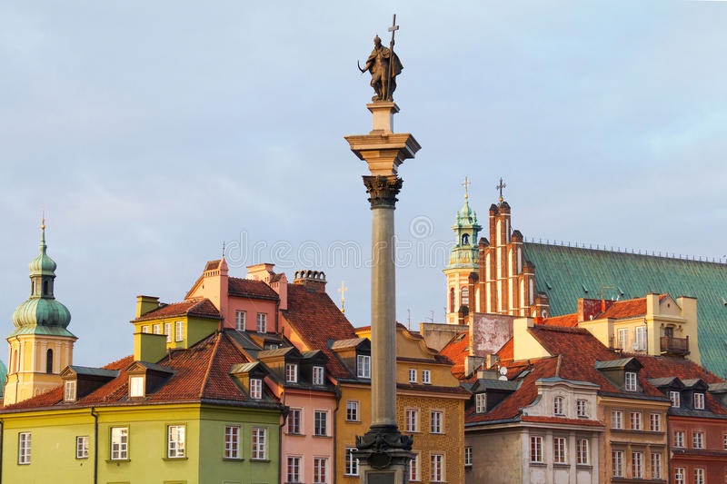 Castle Square in Warsaw. Poland stock image