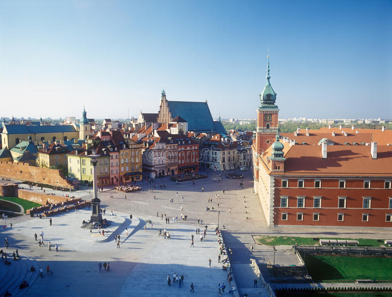 Castle Square In Warsaw, Poland. Royalty Free Stock Photos