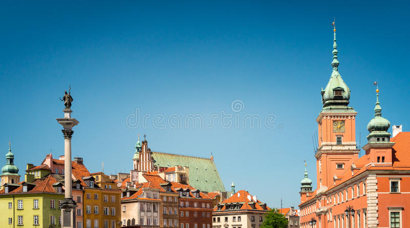 Castle square in Warsaw, Poland, Europe. royalty free stock photos