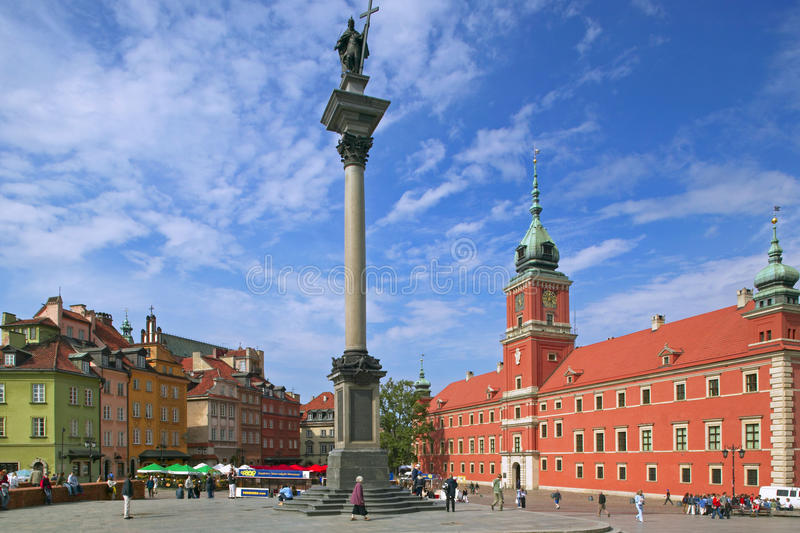 Castle Square in Warsaw. Royal Castle and King Waza III column on Castle Square in Warsaw, Poland, Europe royalty free stock photo