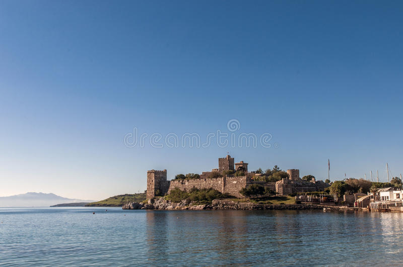 Castle of St. Peter Bodrum Turkey. Bodrum Castle in southwest Turkey in the port city of Bodrum built by the Knights of St John as the Castle of St. Peter or royalty free stock photography