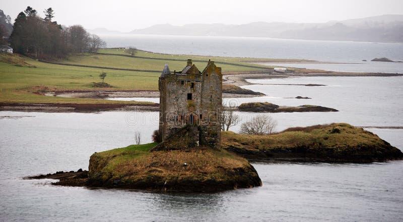 Castle Stalker. Medieval castle stalker. appin, argyll, scotland royalty free stock photos
