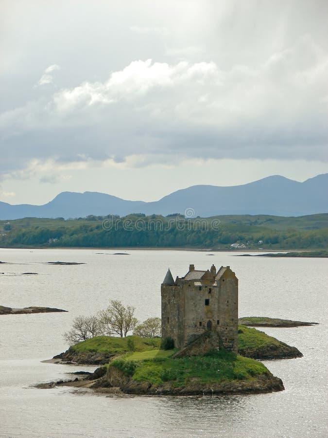 Castle Stalker. In Scotland, travel royalty free stock image