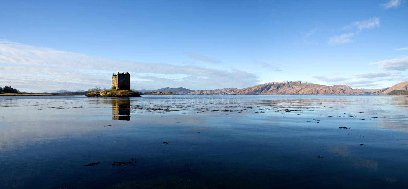 Castle Stalker, Argyll, Scotland, High Resolution Stock Photography