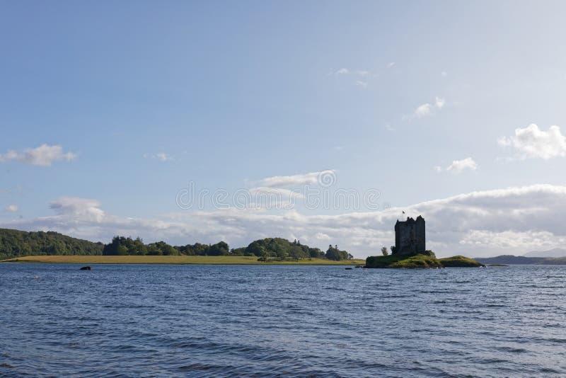 Castle Stalker in Loch Linnhe, Appin, Schottland lizenzfreie stockfotografie